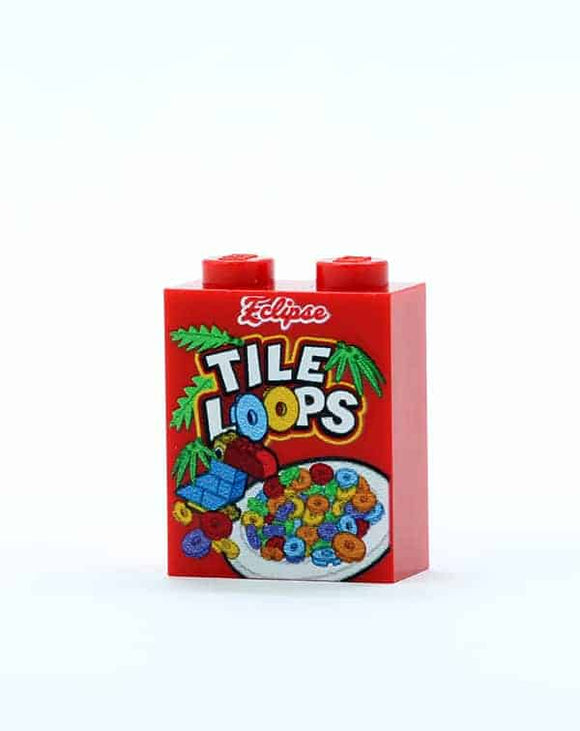 Tile Loops Cereal Box