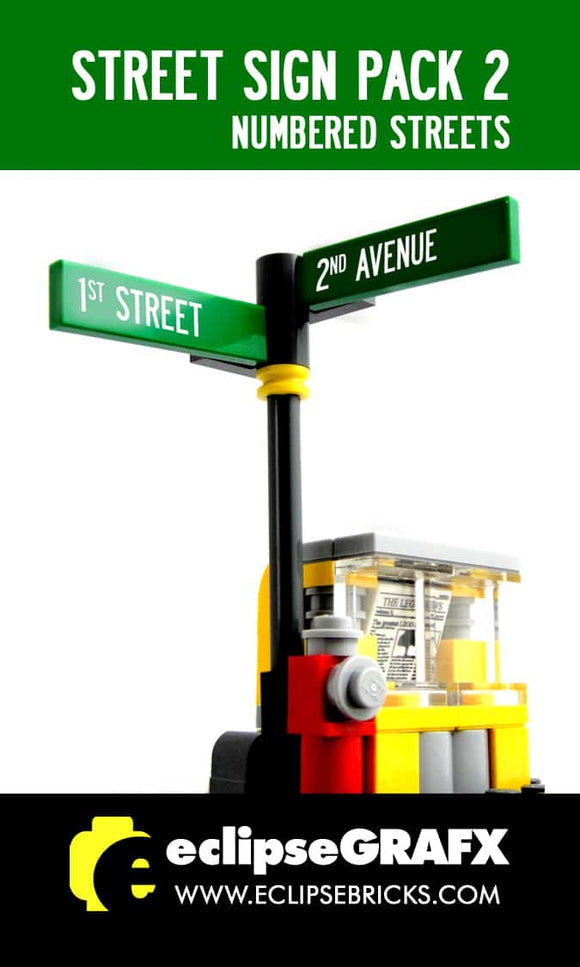 Street Sign - Numbered Streets- Pack 2