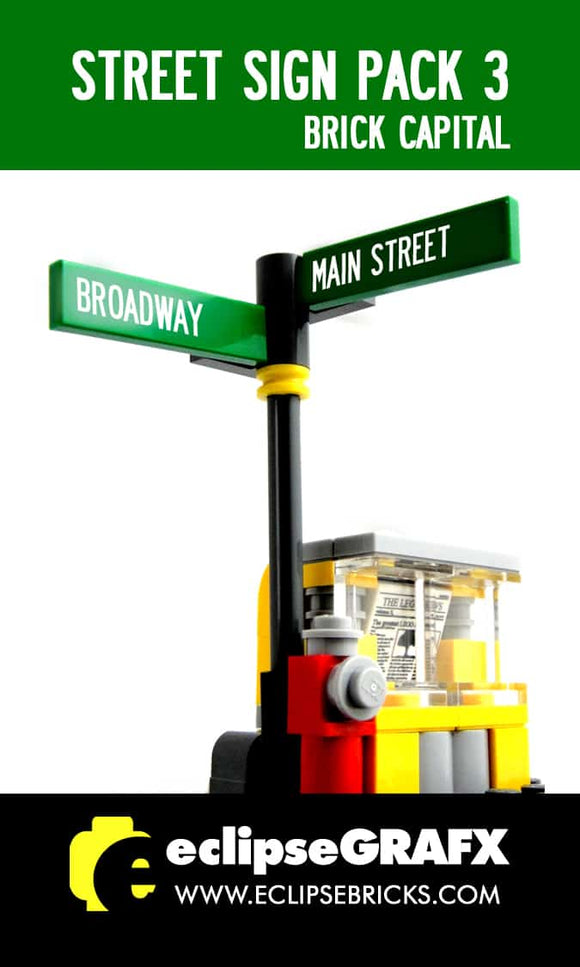 Street Sign - Brick Capital - Pack 3