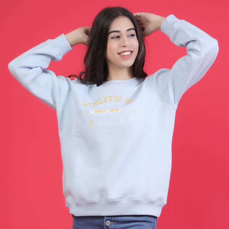 SKY SWEAT WITH EMBROIDERY AT CHEST