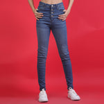 LT.BLUE HIGH WAISTED DENIM