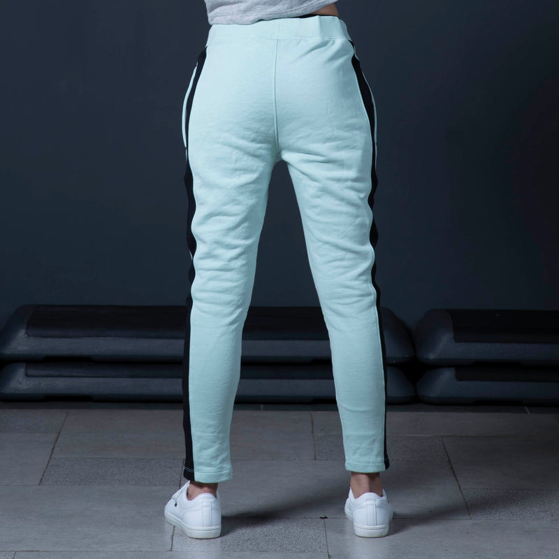 Mint Terry Trouser with Panel