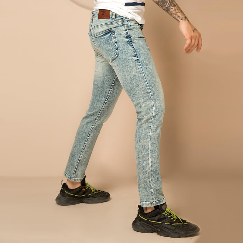BLUE RANDOM WASH DENIM