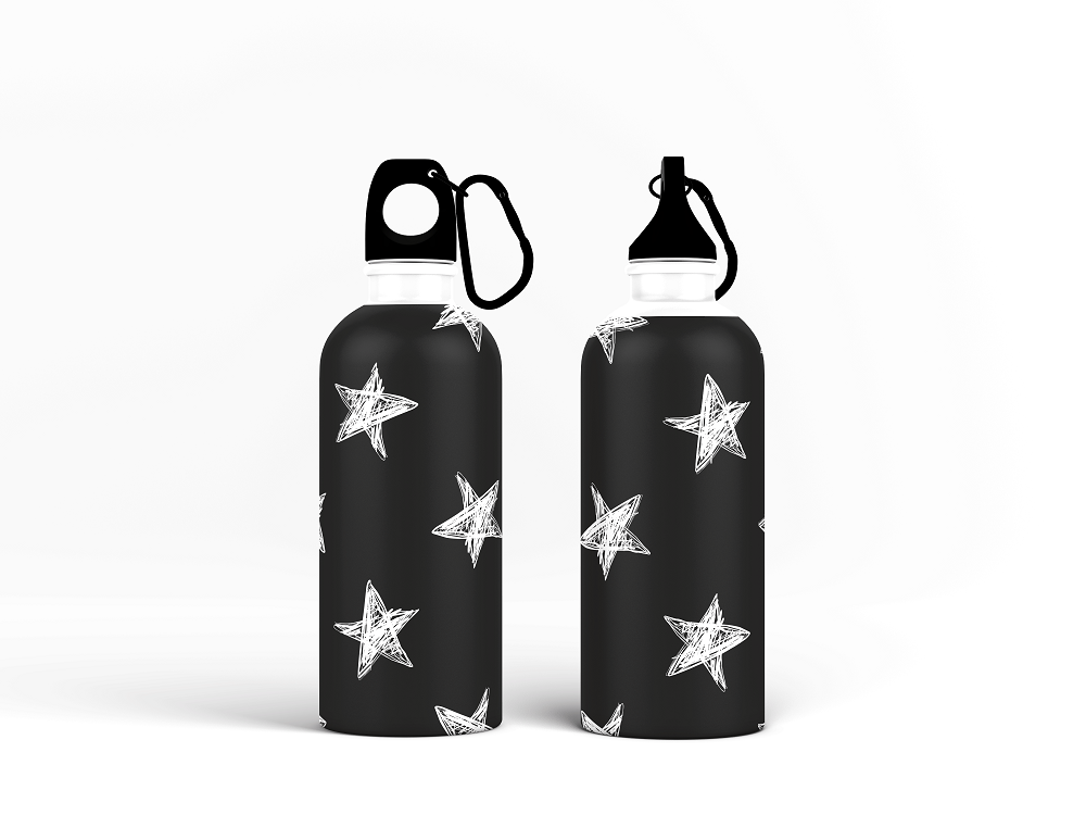 Sipper Bottle - Seamless Pattern with Hand Drawn Stars