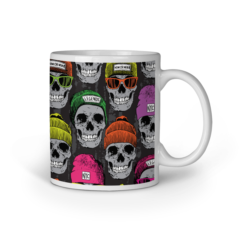 Winter Skull Seamless Mug