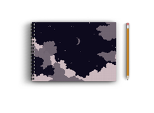 Load image into Gallery viewer, A3 Sketchbook - Dark Moon Aesthetic