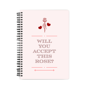 Notebook - Will you accept this Rose?