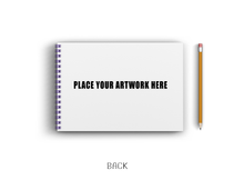 Load image into Gallery viewer, Purple Wiro Custom Sketchbook A4