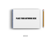 Load image into Gallery viewer, Blue Wiro Custom Sketchbook A4