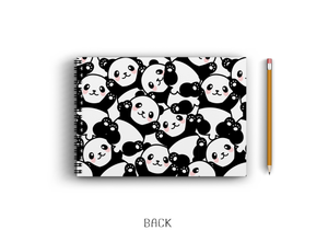 A3 Sketchbook - Cute Panda Seamless