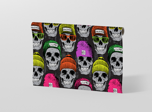Winter skull seamless pattern with beret Gift Wrapping - Pack of 20 and 40