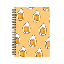Load image into Gallery viewer, Notebook - Yellow Gudetama Doodle Art