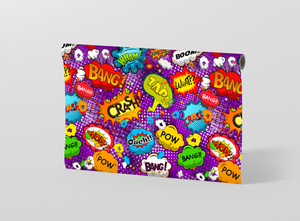 Comic speech bubbles seamless pattern Gift Wrapping - Pack of 20 and 40