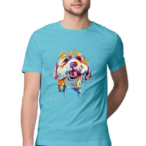 Multicolour Dog - Half T-Shirt Men