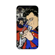 Load image into Gallery viewer, Superman Smoking Weed iPhone Case