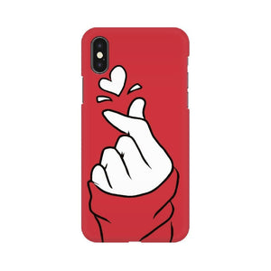 Red Korean Heart - iPhone Cover