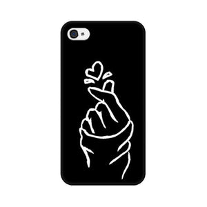 Black Korean Heart iPhone Case