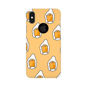 Yellow Gudetama Doodle Art iPhone Case
