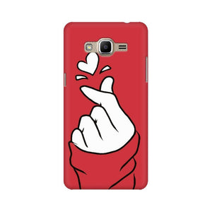 Red Korean Hearts Samsung Case