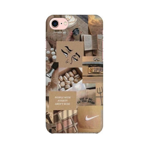 Brown Aesthetics iPhone Case