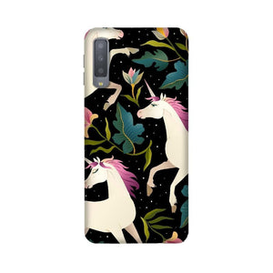 Unicorns on Dark Background Seamless Samsung Case