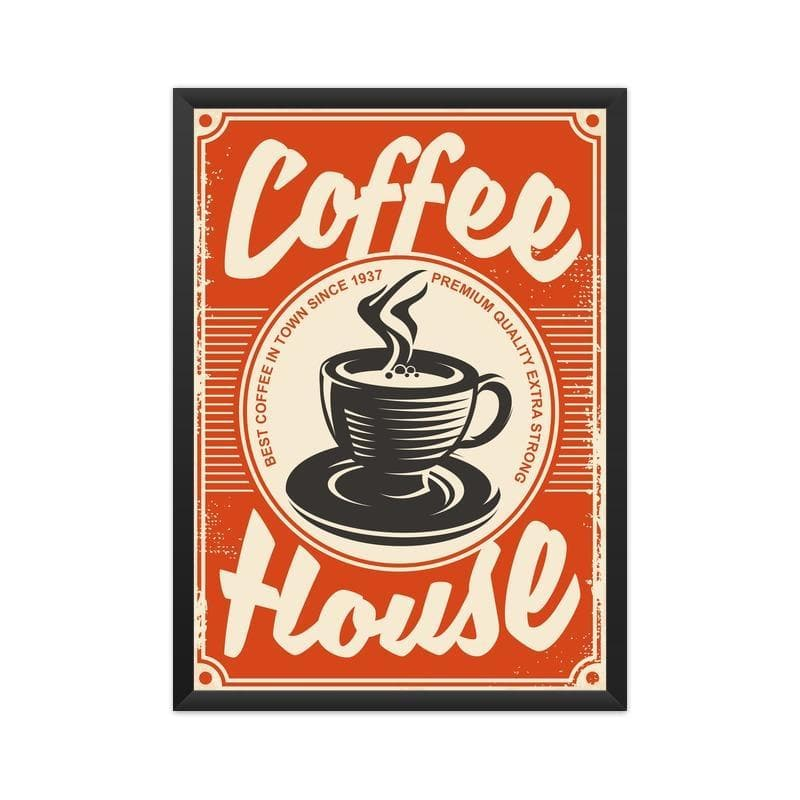 Vintage Coffee House Poster