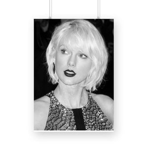 Taylor Swift Black and White Poster