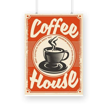 Load image into Gallery viewer, Vintage Coffee House Poster