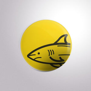 Yellow Whale - Button Badge