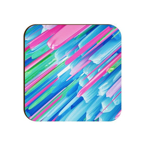 Square Coaster - Abstract Neon