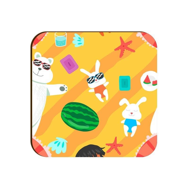 Square Coaster - Summer Design