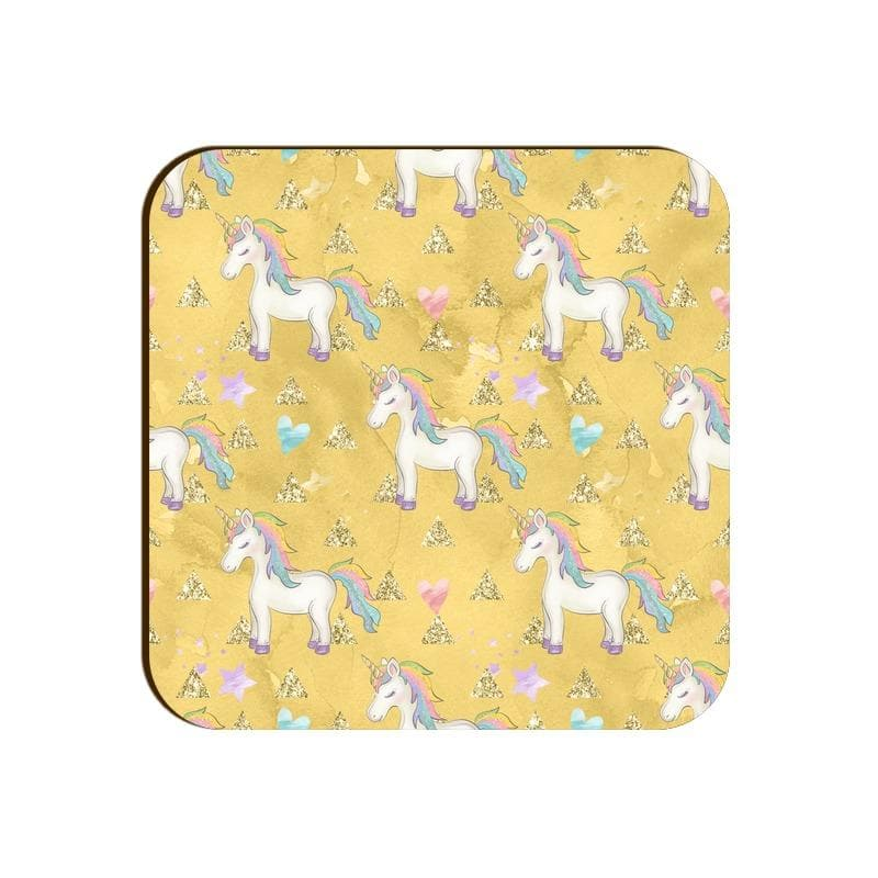 Square Coaster - Unicorns