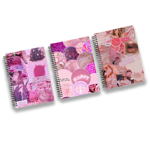 Pink Aesthetic 3 Notebooks Combo