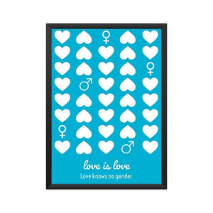 Love knows no gender Poster