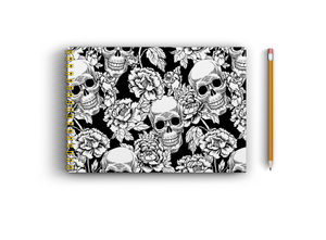 A4 Sketchbook - Skull and Flowers