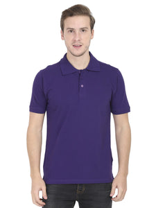 Men's Plain Purple Polo T-Shirt