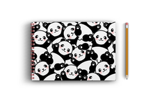 Load image into Gallery viewer, A3 Sketchbook - Cute Panda Seamless