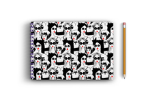 Load image into Gallery viewer, A3 Sketchbook - Black and White Girls Seamless Pattern
