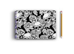 A3 Sketchbook - Skull and Flowers