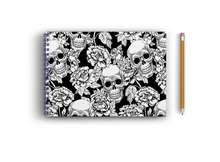 Load image into Gallery viewer, A4 Sketchbook - Skull and Flowers