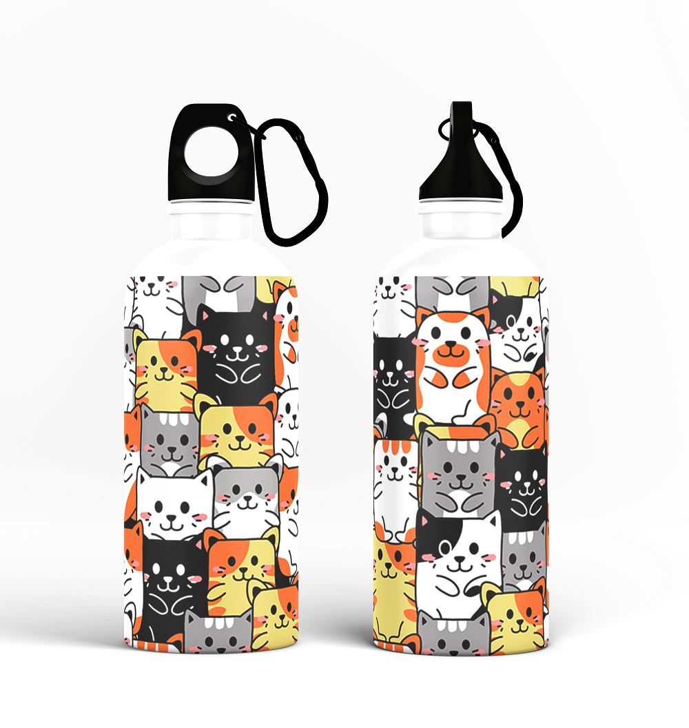 Sipper Bottle - Cute Cats