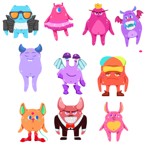 Cartoon Monsters - Stickers