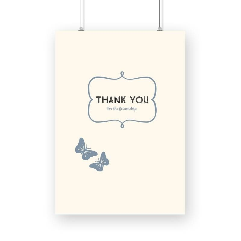 Thank you for your friendship - Wall Poster