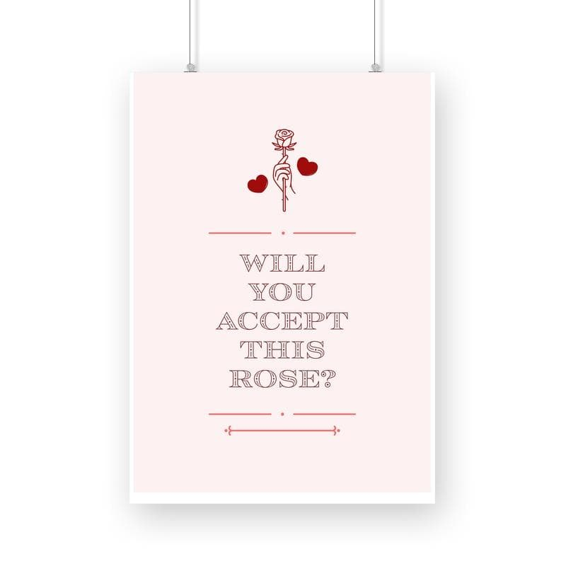 Will you accept this Rose? - Wall Poster