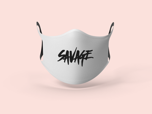 White Savage Face Mask