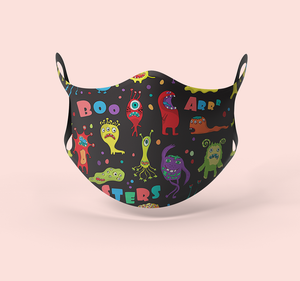 Cute Monsters Designer Face Mask