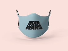 Load image into Gallery viewer, Sky Blue Star Wars Face Mask