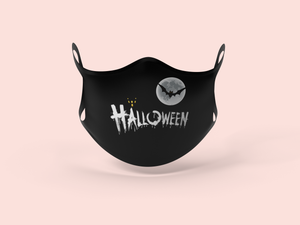 Black Halloween Face Mask