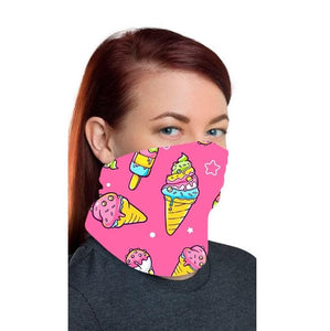 Ice Cream Design Bandana Mask