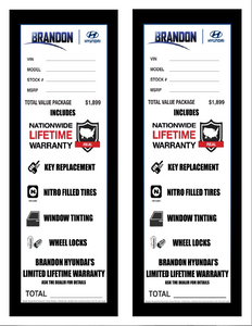 Pre-Printed Color Window Label Templates – Internal Addendum Size (Increments of 125) $75.00